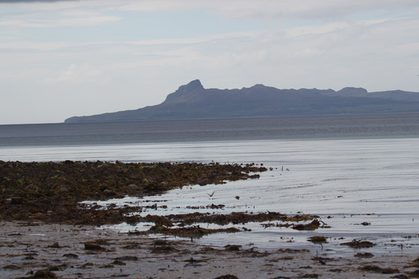 The Isle of Eigg from Samalaman Beach