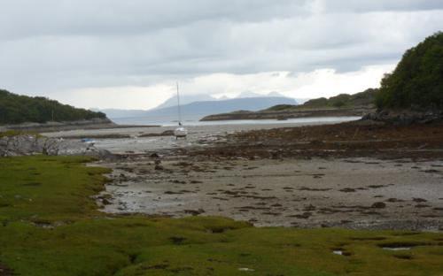 The beacj at Samalaman is accessible from the road from Glenuig to Smirisary