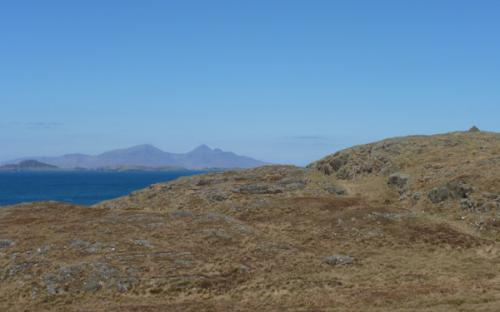 Great views over Skye and The Small Isles from the cairns