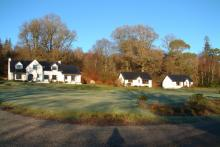All three cottages are adjacent to the loch