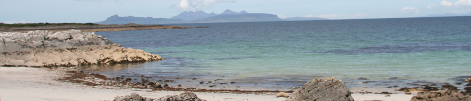view of the small isles from the silvery sands of smirisary