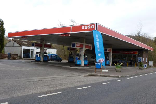 Esso garage in Fort William