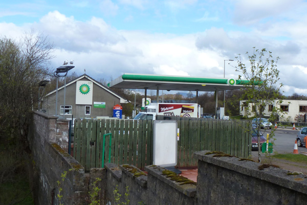 BP Filling Station in Fort William