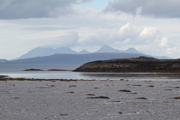 A misty day looking out to The Small Isles