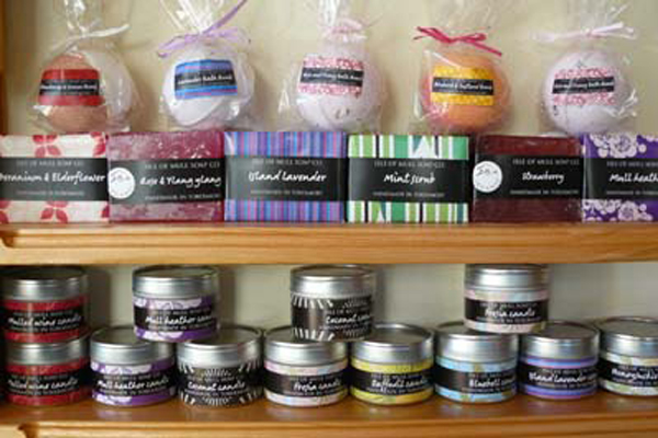 A selection of soaps at Kilchoan Crafts & Gallery