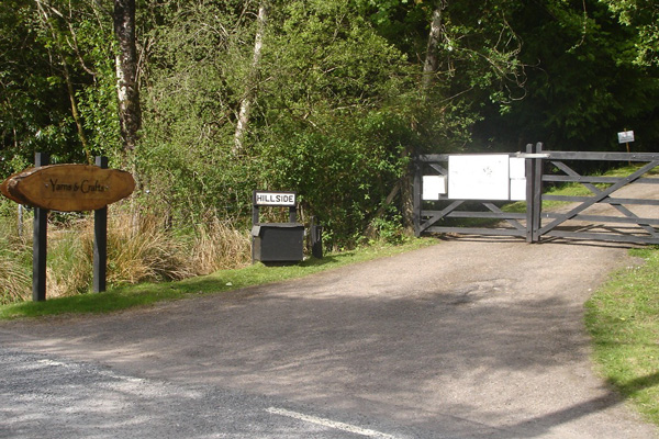 The entrace to Loch Sunart Yarns & Buttons near Salen