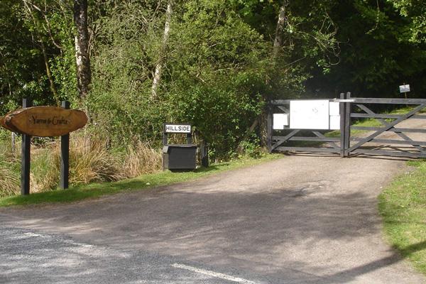 The entrace to Loch Sunart Yarns & Buttons near Salen