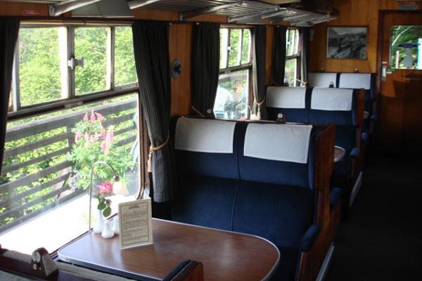 Inside The Glenfinnan Dining Car