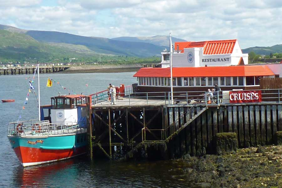 Crannog Restaurant on the shore of Loch Linnhe
