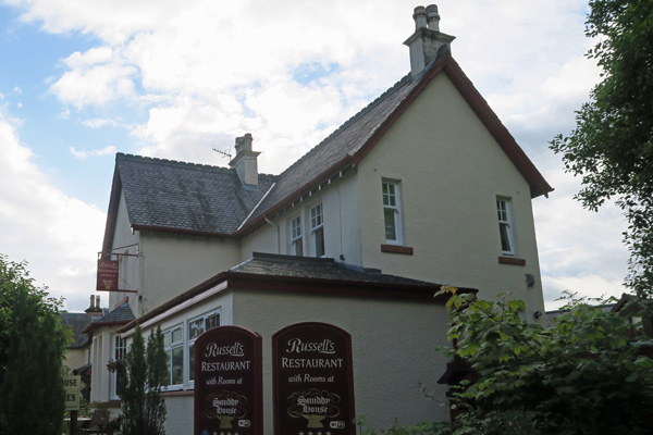 Russell's Restauarant in Spean Bridge
