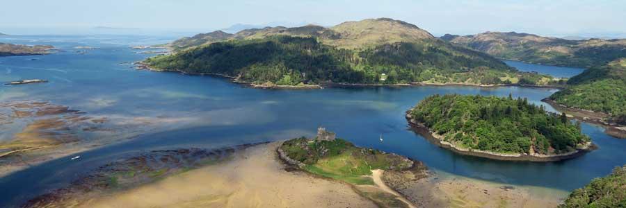 Castle Tioram and Eilean Shona