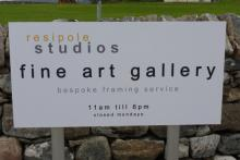 The sign for Resipole Studios at Resipole