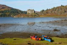 Waiting for the tide at Dorlin Beach near Castle Tioram