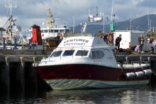 The Venturer awaiting passengers at Mallaig