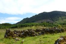 The deserted village of Aoineadh Mor