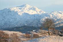 Ben Resipole in winter from Mingarry