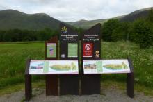 The start of the walks at Creag Meagaidh carpark