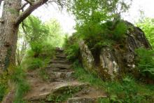 The steps to the top of Signal Rock