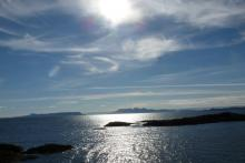 View of Eigg and Rum from Mallaig